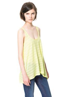 LONG TANK TOP - T - shirts - Woman   ZARA United States