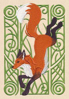 Fox Nouveau design (UT7763) from UrbanThreads.com