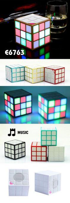 Rubick's cube inspired music speaker