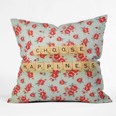 Happee Monkee Choose Happiness Outdoor Throw Pillow | DENY Designs Home Accessories