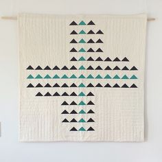"Utterly lovely and simple ""Forward"" quilt by Season Evans of S.D. Evans Quilts."
