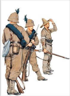 🇬🇧Kingdom of Italy, African skirmishers . Italian Empire, Italian Army, Colonial, Military Art, Military History, Army Uniform, Military Uniforms, Boxer Rebellion, Military Drawings
