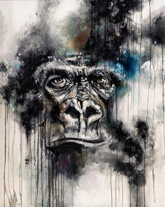 'Glare' by Katy Jade Dobson / Oil painting / Gorilla