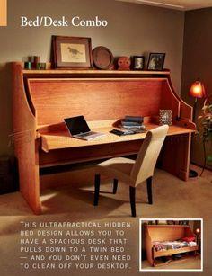Bed-Desk Combo - Furniture Plans