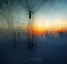 I think this is a photo through a window with condensation..