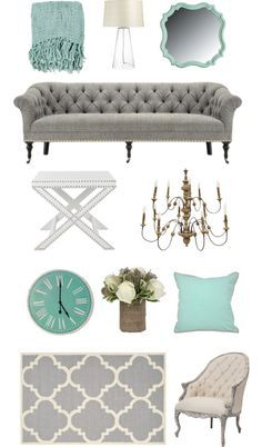 Home design inspiration - Teal & Grey Design Board