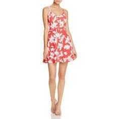 Aqua Floral Textured V-Neck Dress ($78) ❤ liked on Polyvore featuring dresses, flower print dress, fit and flare dress, v neck fit and flare dress, floral print dress and red flower dress