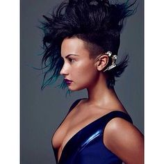 Her hair in Allure makes me wanna shave half my head and go to town with the hairspray. | 14 Ways Demi Lovato Served LOOKS In 2014
