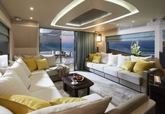 Yacht lounge - Luxury Yacht Interior Design