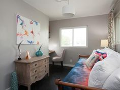 As seen on Flipping the Block...John and Whitney, Guest Bedroom