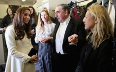 Jim Carter (one of the leading figures below stairs, butler Mr Carson) points the way to the Duchess as she tours the wardrobe department