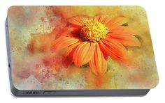 Portable Battery Charger featuring the photograph Abstract Orange Flower by Judi Saunders.