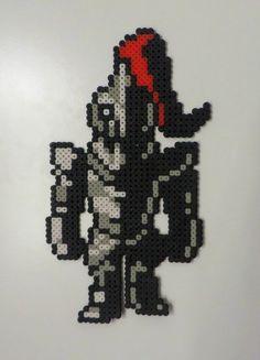 Undyne Armored Undertale Perler beads by Noctico Beaded Cross Stitch, Cross Stitch Art, Cross Stitch Patterns, Hama Beads Patterns, Beading Patterns, Undertale Pixel Art, Minecraft Pattern, Stitch Games, Pixel Art Grid