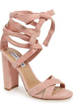 A wrapped, half-moon heel grounds this trend-right suede sandal topped with crisscrossing toe straps and leg-flattering wraparound ankle ties. found at @nordstrom #nordstrom