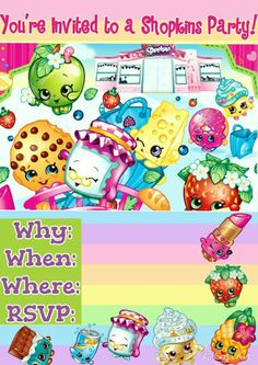 Another edit of the shopkins invite!