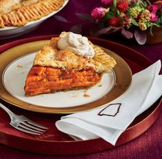 Southern Pies_Sliced Sweet Potato Pie with Molasses Whipped Cream Recipes With Whipping Cream, Cream Recipes, Pie Recipes, Dessert Recipes, Cooking Recipes, Yummy Recipes, Cranberry Relish, Potato Pie, Potato Slices