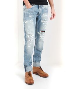 Replay's Ronas jeans have a slim fit with a classic five pocket design. Ripped Jeans, Skinny Jeans, Replay, Slim, Stone, Clothing, Pants, Men, Fashion