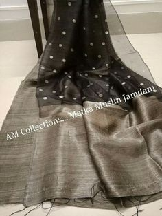 *Very Gorgeous Half and Half Matka Muslin Saree with Jamdani Buti* Price :5999 Order what's app 7995736811