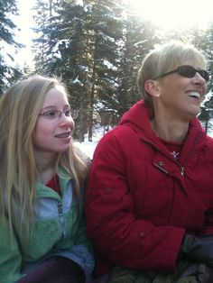 Taking a sled ride for the holidays!  Carolyn & Susann Kammeyer
