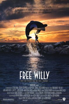 Free Willy was an awesome movie. You know that whale was found in like a pool in Mexico and then set free in like Finland and ended up getting sick then starving to death since it was all domesticated. Oh! I have the necklace! Came with the VHS, I got for christmas from my uncle.