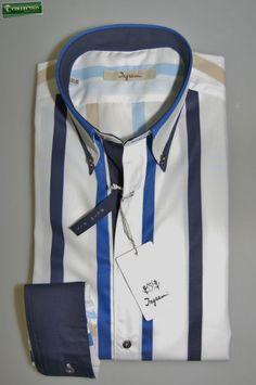 Ingram button-down shirt slim fit new Collection.  Made in Italy
