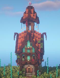 Minecraft City, Minecraft Villa, Casa Medieval Minecraft, Minecraft Mansion, Minecraft Structures, Minecraft Cottage, Cute Minecraft Houses, Minecraft Plans, Amazing Minecraft