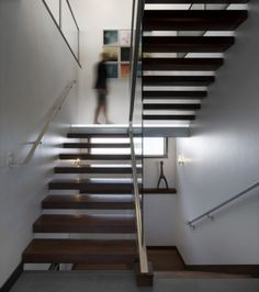 Love these floating stairs