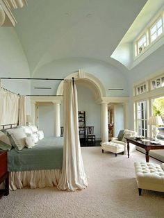 gorgeous blue master bedroom...love this color - great design ideas