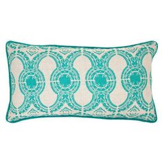 Kosas Home Emille Linen Throw Pillow Color: Turquoise