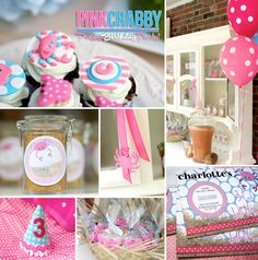 """This Preppy Pink Polka Dot """"Crabby"""" Birthday by Party Box Design was featured 2 years ago today! 1st Birthday Parties, Girl Birthday, Themed Parties, Birthday Ideas, Crab Party, Party In A Box, Pink Parties, Party Photos, Pink Polka Dots"""