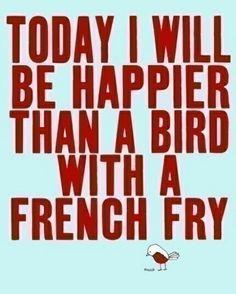 Bird with a french fry