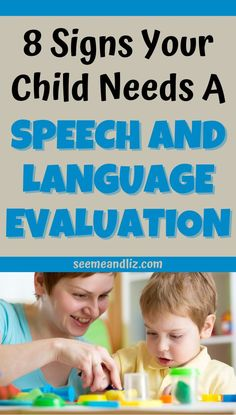 Do you think your child may need speech language therapy? Here are 8 signs to look for in young children that may indicate they need a speech and language assessment and possibly therapy as well. Indoor Activities For Kids, Infant Activities, Book Activities, Children Games, Young Children, Parenting Memes, Parenting Advice, Language Development, Child Development