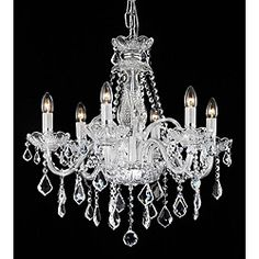 Maria Theresa 6-light Crystal Chandelier for my walk in closest!