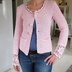 Discover thousands of images about Virkad kofta klar Blev precis som jag hade hoppats Foto av by madebyjoysan Diy Crochet Cardigan, Gilet Crochet, Crochet Jacket, Moda Crochet, Knit Crochet, Knitting Patterns, Crochet Patterns, Diy Crafts Crochet, Crochet Woman