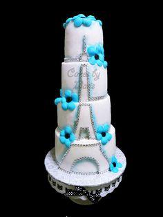Anniversary, Eiffel tower cake