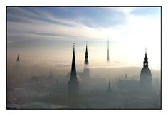 Fog-sheet over the Old Riga