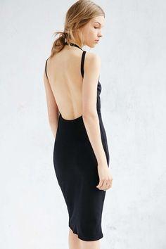 Silence + Noise Harness Strap Open Back Dress