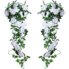1-20pcs 2M 6.5FT Artificial Fake Wisteria Vine Flowers String Hanging Garland D