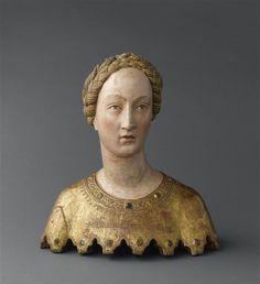 Buste-reliquaire de sainte Mabille  Description :  vers 1370-1380  Auteur :  Angelo di Nalduccio (actif de 1343 à 1389) (attribué à)