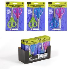 2 pack Translucent glitter scissors Case Pack 48