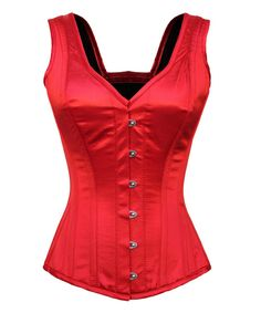 Darrie Steel Boned Gothic Corset Scarlet Witch