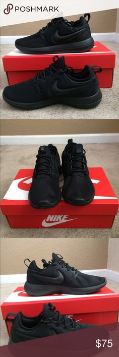 newest 40e4e 660fb New Nike triple black roshe 2 women New Nike roshe 2 triple black shoes  size varies