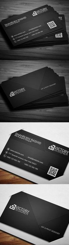 Corporate Business Card #businesscards #printready #psdtemplates