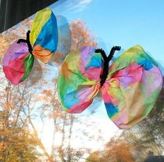 Colorful Coffee Filter Butterflies