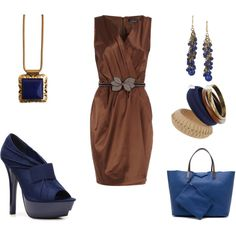 Navy & Brown