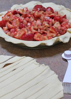Strawberry Rhubarb Pie, my favorite summer pie!