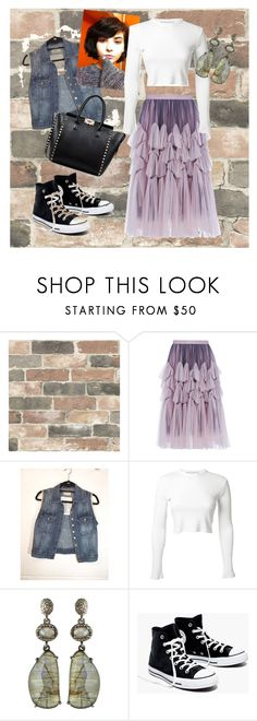 """""""A little wacky"""" by graciejohnstone ❤ liked on Polyvore featuring Wall Pops!, Dries Van Noten, Current/Elliott, Rosetta Getty, Bavna, Madewell and Valentino"""