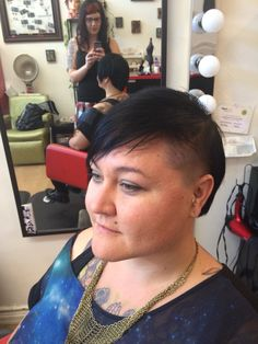 Carrie's new asymmetric haircut by Mary Rose