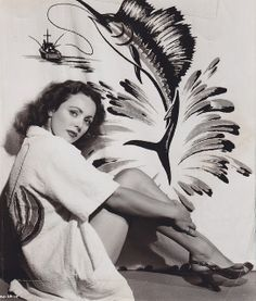 Lina Romay - c.1949  swordfish swimsuit cover-up