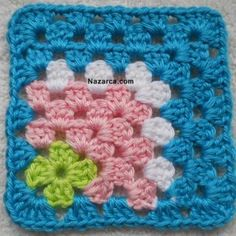 Transcendent Crochet a Solid Granny Square Ideas. Inconceivable Crochet a Solid Granny Square Ideas. Motifs Granny Square, Crochet Blocks, Granny Square Crochet Pattern, Crochet Squares, Crochet Blanket Patterns, Crochet Motif, Knitting Patterns, Knit Crochet, Crochet Stitches